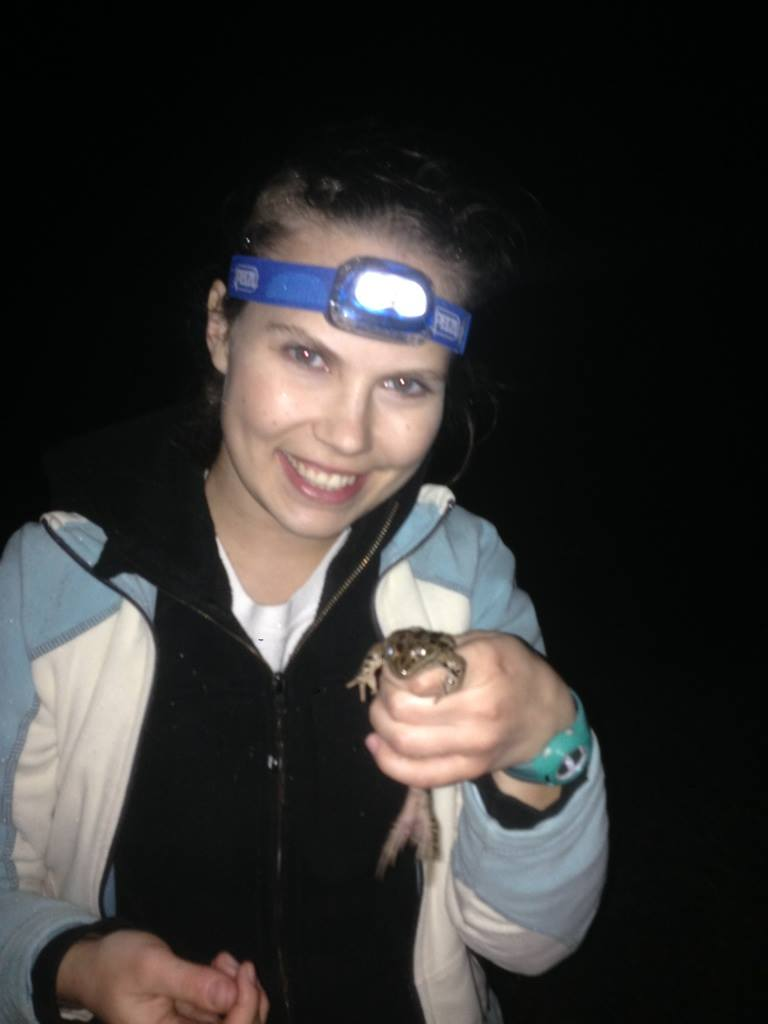 Hayley Roberts and frog